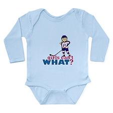 Woman Hockey Player Long Sleeve Infant Bodysuit