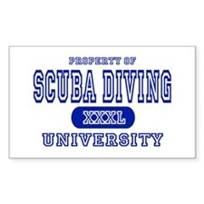 Scuba Diving University Rectangle Decal