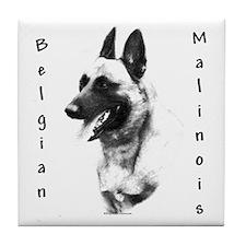 Malinois Charcoal Tile Coaster