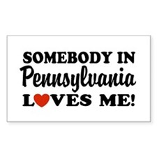 Somebody in Pennsylvania Loves Me Decal