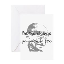 be change 1 tee Greeting Cards