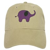 lone purple elephant Baseball Cap