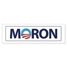 Obama Logo MORON Bumper Bumper Sticker