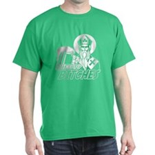 St Patricks Day Drink Up Bitches Outline T-Shirt