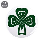 Celtic Shamrock 3.5&quot; Button (10 pack)