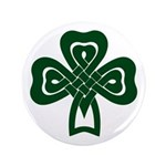 Celtic Shamrock 3.5&quot; Button