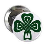 Celtic Shamrock 2.25&quot; Button (100 pack)