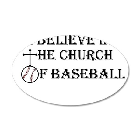 I believe in the church of baseball. Wall Decal