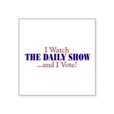I watch TDS rectangular Sticker