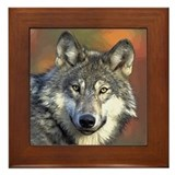 Wolf Framed Tile
