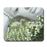 In the Garden - Quan Yin Flowers Mousepad