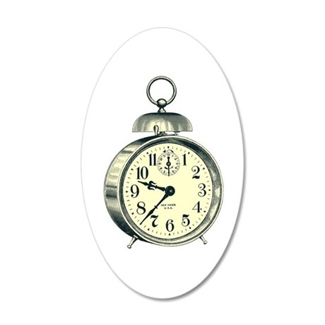 Alarm Clock 20x12 Oval Wall Decal