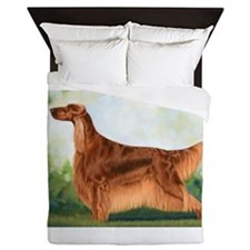Irish Setter 3 by Dawn Secord.jpg Queen Duvet