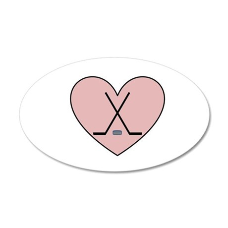 Hockey Heart Wall Decal