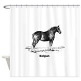 Belgian Horse Shower Curtain