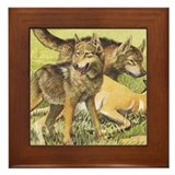 Wolves Framed Tile