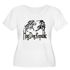 Hog Dog Republic CafePress Logo Plus Size T-Shirt