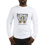 Believe Butterfly Autism Long Sleeve T-Shirt