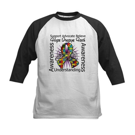 Autism Awareness Inspirations Kids Baseball Jersey