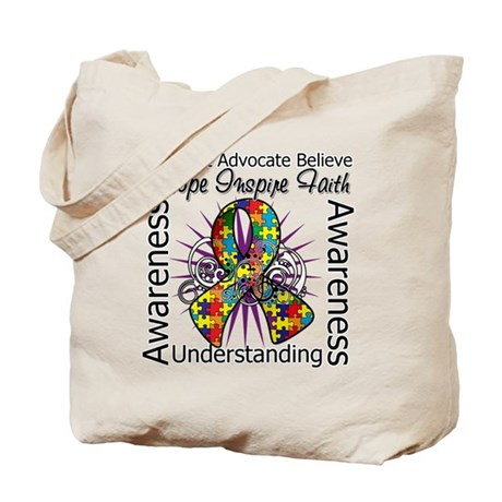Autism Awareness Inspirations Tote Bag