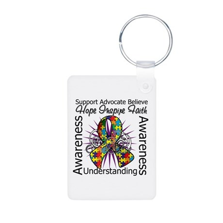 Autism Awareness Inspirations Aluminum Photo Keych