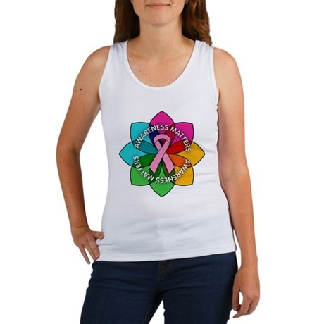 Breast Cancer Awareness Petals Women's Tank Top
