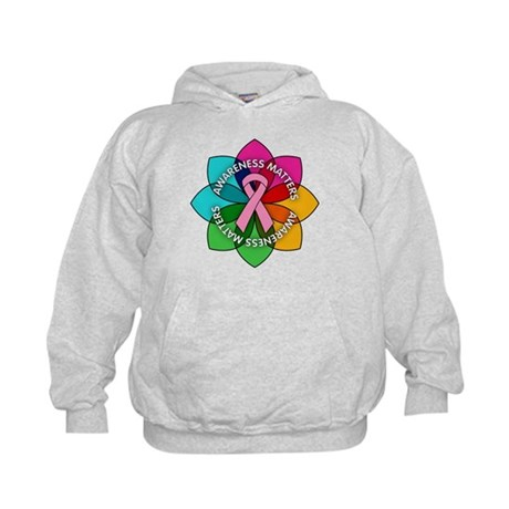 Breast Cancer Awareness Petals Kids Hoodie