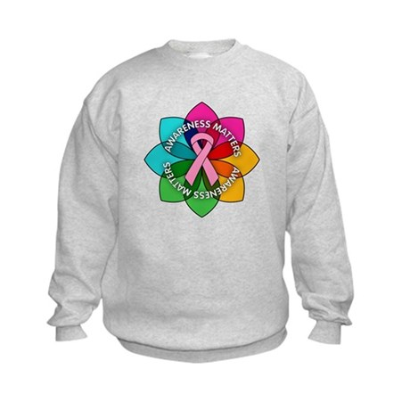 Breast Cancer Awareness Petals Kids Sweatshirt