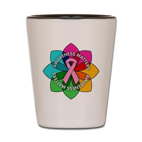 Breast Cancer Awareness Petals Shot Glass