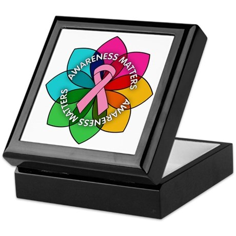 Breast Cancer Awareness Petals Keepsake Box