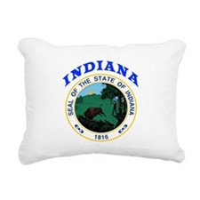 Indiana State Seal Rectangular Canvas Pillow