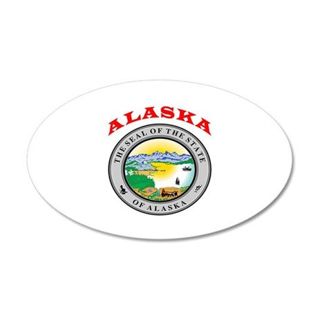Alaska State Seal 35x21 Oval Wall Decal
