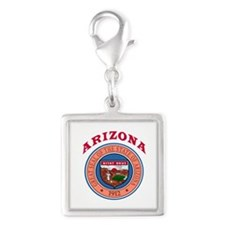 Arizona State Seal Silver Square Charm