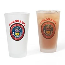 Colorado State Seal Drinking Glass