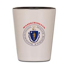 Massachusetts State Seal Shot Glass