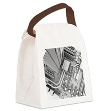 Computer motherboard, artwork - Canvas Lunch Bag
