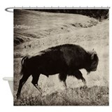 Cool Bison Shower Curtain