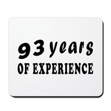 93 years birthday designs Mousepad