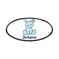 Custom Easter Blue Bunny Patches