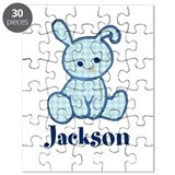 Custom Easter Blue Bunny Puzzle
