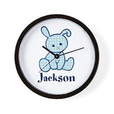 Custom Easter Blue Bunny Wall Clock