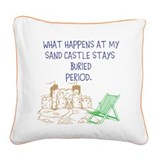 Square Canvas Pillow SAND CASTLE