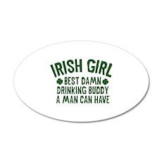 Irish Girl 38.5 x 24.5 Oval Wall Peel