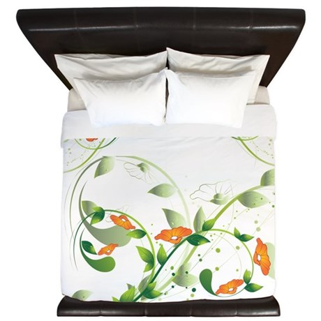 California Poppies King Duvet