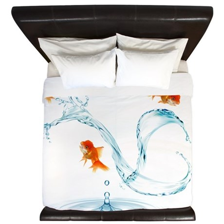 Splashing Fish King Duvet