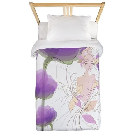 Lady of the Flowers Twin Duvet