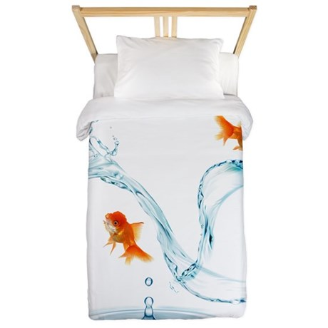 Splashing Fish Twin Duvet
