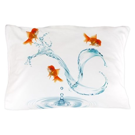 Splashing Fish Pillow Case