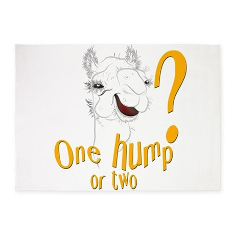 Funny Camel One Hump or Two 5'x7'Area Rug