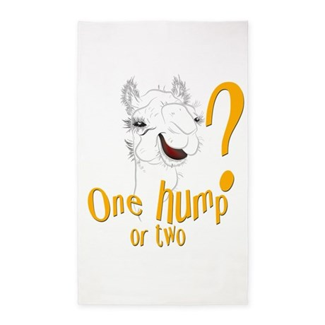 Funny Camel One Hump or Two 3'x5' Area Rug